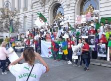 imagenes del mitin en San Francisco en solidaridad con la revolucion en Argelia